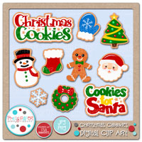Christmas Cookies Digital Clip Art