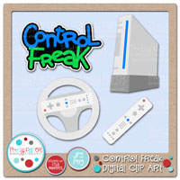 Control Freak Digital Clip Art