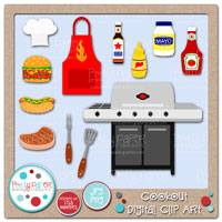 Cookout Digital Clip Art