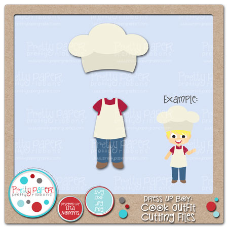 Dress Up Boy Cook Outfit Cutting Files