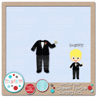 Dress Up Boy Groom Tuxedo Cutting Files