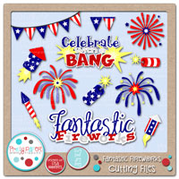 Fantastic Fireworks Cutting Files