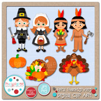First Thanksgiving Digital Clip Art