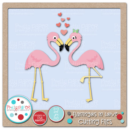 Flamingos in Love Cutting Files