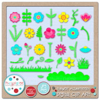 Flower Assortment Digital Clip Art