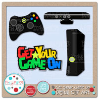Get Your Game On Digital Clip Art
