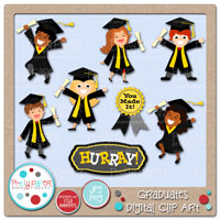 Graduates Digital Clip Art