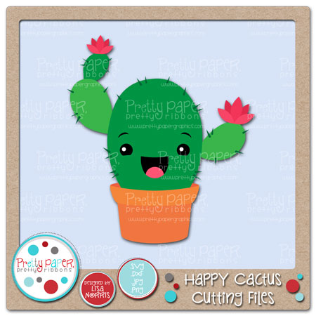 Happy Cactus Cutting Files
