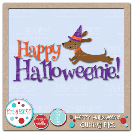 Happy Halloweenie Cutting Files