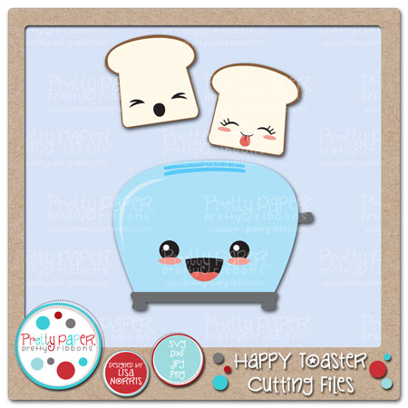 Happy Toaster Cutting Files