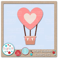 Heart Balloon Cutting Files
