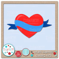 Heart Banner Cutting Files