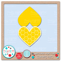 Honeycomb Heart Card Cutting Files