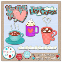Hot Cocoa Digital Clip Art