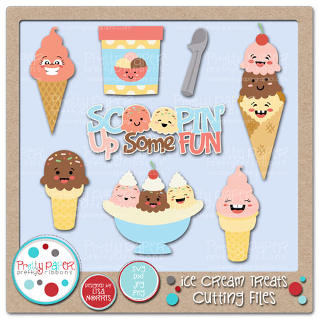 ***BUNDLE*** Ice Cream Treats Cutting Files
