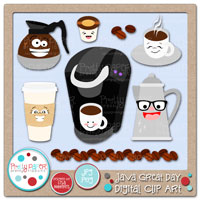 Java Great Day Digital Clip Art
