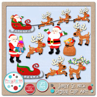 Jolly St. Nick Digital Clip Art