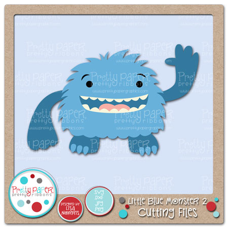 Little Blue Monster 2 Cutting Files