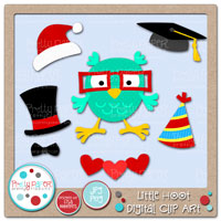 Little Hoot Digital Clip Art