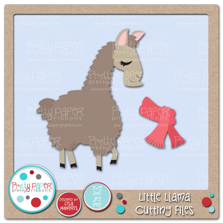Little Llama Cutting Files