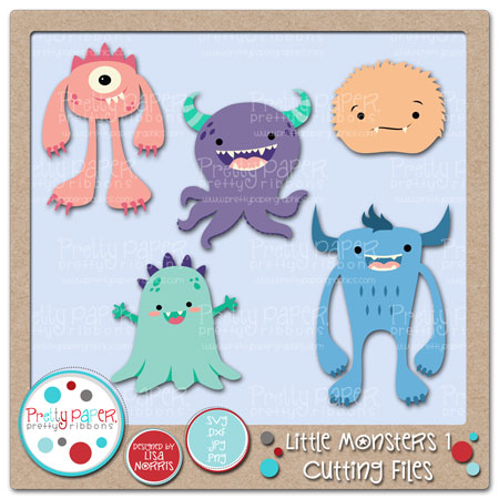 ***BUNDLE*** Little Monsters 1 Cutting Files