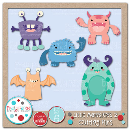 ***BUNDLE*** Little Monsters 2 Cutting Files