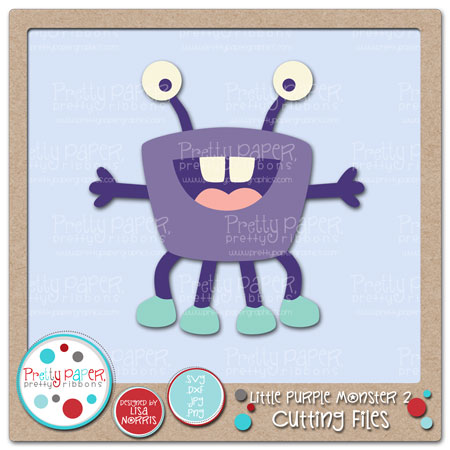 Little Purple Monster 2 Cutting Files
