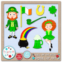 Luck of the Irish Digital Clip Art