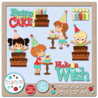 Make a Wish Digital Clip Art