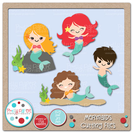 Mermaids Cutting Files
