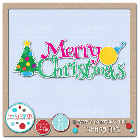 Merry Christmas Title Cutting Files