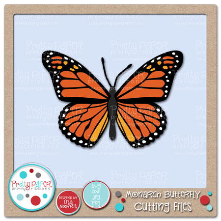 Monarch Butterfly Cutting Files