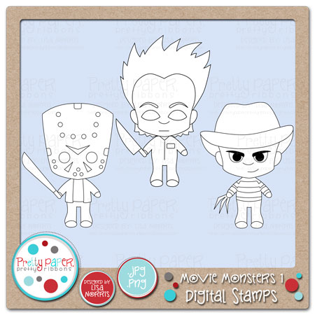 Movie Monsters 1 Digital Stamps