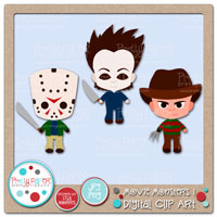 Movie Monsters 1 Digital Clip Art