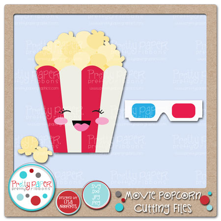 Movie Popcorn Cutting Files