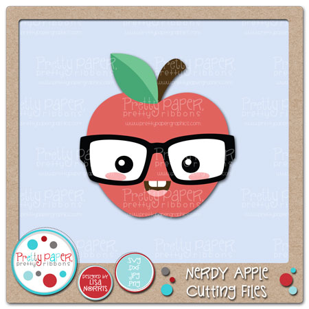 Nerdy Apple Cutting Files