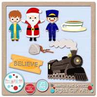 North Pole Express Digital Clip Art