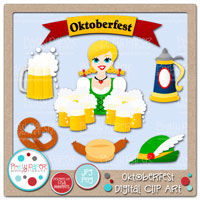 Oktoberfest Digital Clip Art