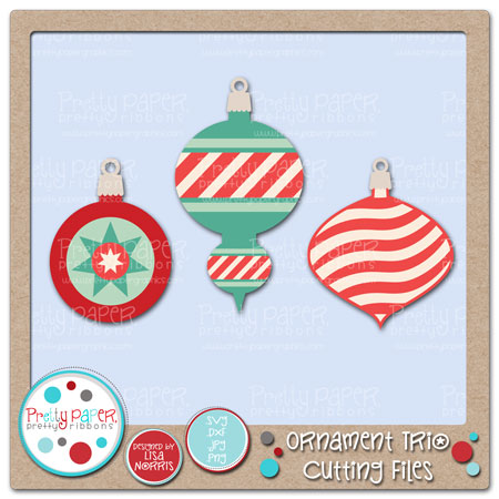 Ornament Trio Cutting Files