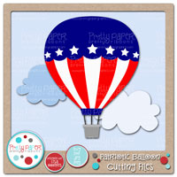 Patriotic Balloon Cutting Files