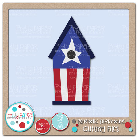 Patriotic Birdhouse Cutting Files