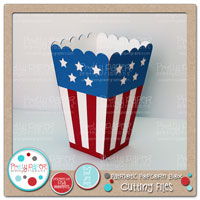 Patriotic Popcorn Box Cutting Files
