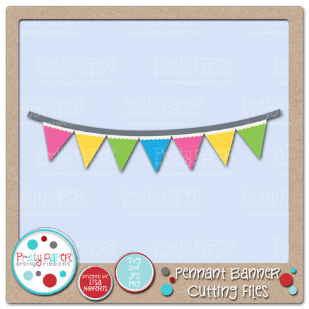 Pennant Banner Cutting Files