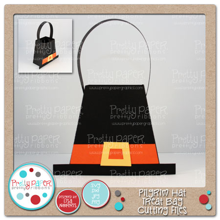 Pilgrim Hat Treat Bag Cutting Files