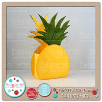 Pineapple Gift Box Cutting Files