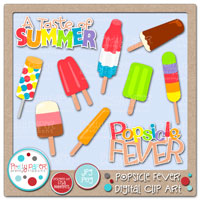 Popsicle Fever Digital Clip Art