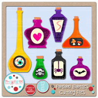 Potion Bottles Cutting Files