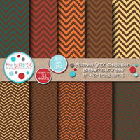 Pumpkin Spice Brown Chevron