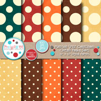 Pumpkin Spice Cream Polka Dots