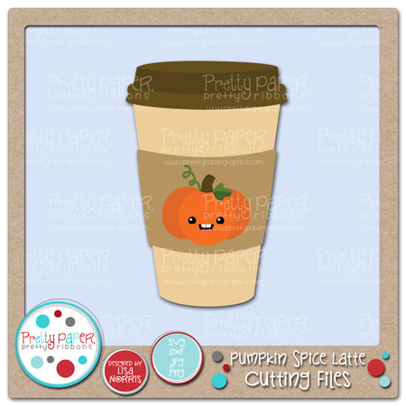 Pumpkin Spice Latte Cutting Files